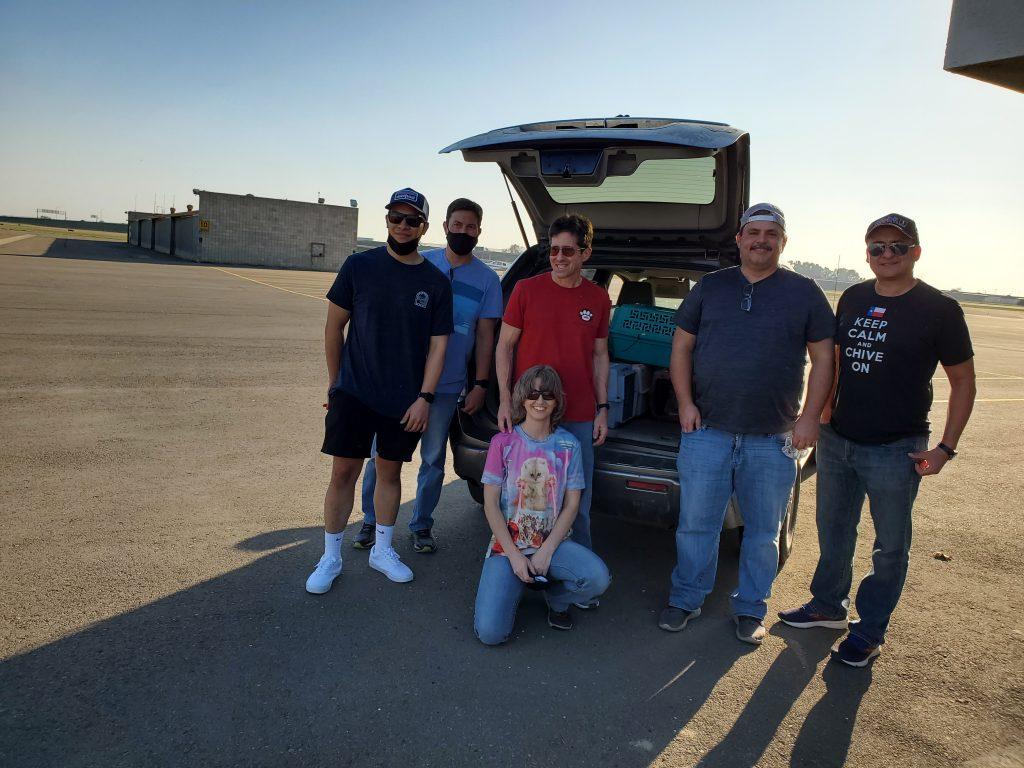 6 Pilots in Front of Open Truck